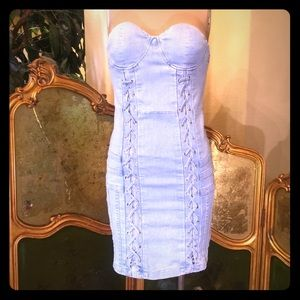 Dresses & Skirts - Denim strapless mini dress